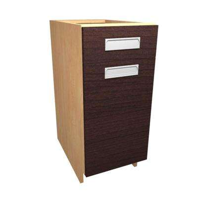 Genoa Ready to Assemble 18 x 34.5 x 24 in. Base Cabinet with 1 Soft Close Door and 1 Soft Close Drawer in Espresso