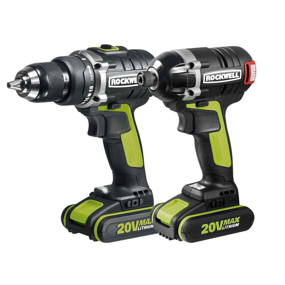 Rockwell 20-Volt Lithium-Ion Cordless Drill/Impact Driver...