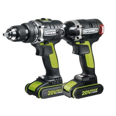 20-Volt Lithium-Ion Cordless Drill/Impact Driver Combo Kit (2-Piece)
