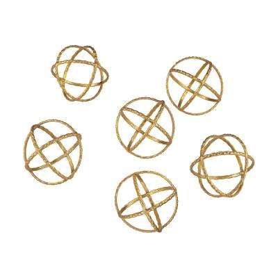 4 in. Gold Orbs Decorative Accessory (Set of 6)