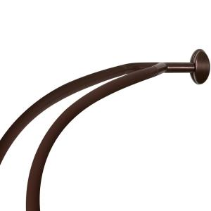NeverRust 45 inch to 72 inch Aluminum Double Curved Shower Curtain Rod in Bronze by NeverRust