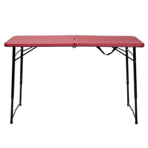 Cosco Red Adjustable Folding Tailgate Table 14402RBK1E   The Home Depot