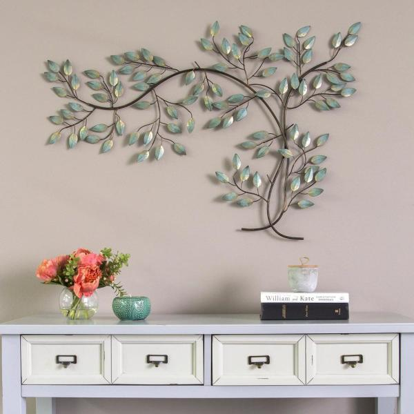 Homeroots Patina Tree Branch Metal Wall Decor 321176 The Home Depot