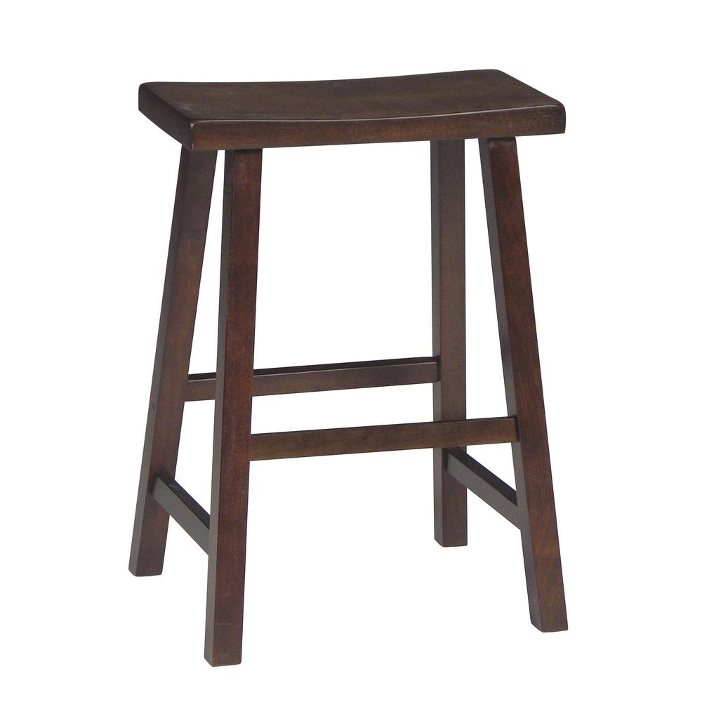 International Concepts 24 In Walnut Bar Stool 1s61 682 The Home Depot