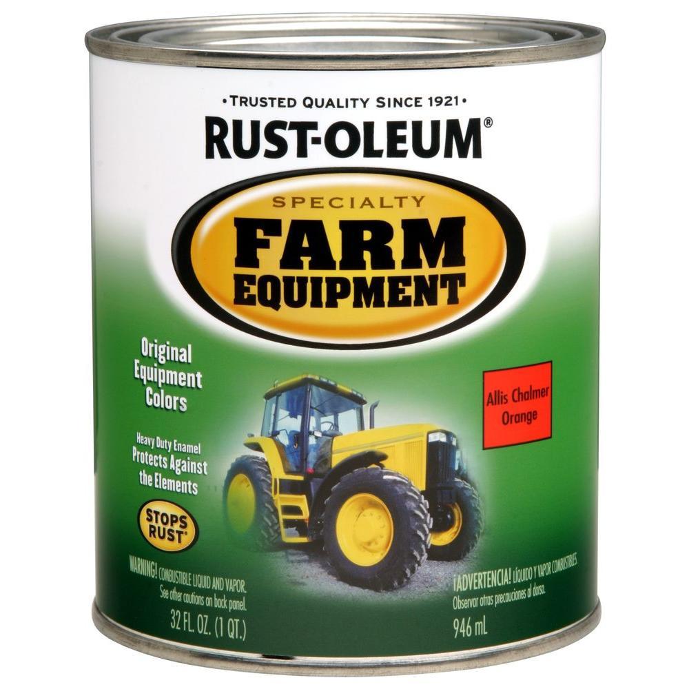 1 qt. Farm Equipment Allis Chalmers Orange Gloss Enamel Paint (2-Pack)
