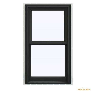 23.5 in. x 35.5 in. V-2500 Series Bronze Painted Vinyl Double Hung Window with BetterVue Mesh Screen