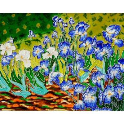 Van Gogh, Irises Trivet and Wall Accent 11 in. x 14 in. Tile (felt back)