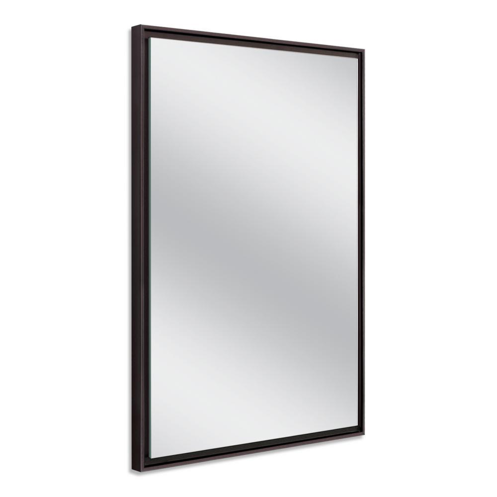 Deco Mirror 26 In W X 38 In H Espresso Studio Float Wall Mirror