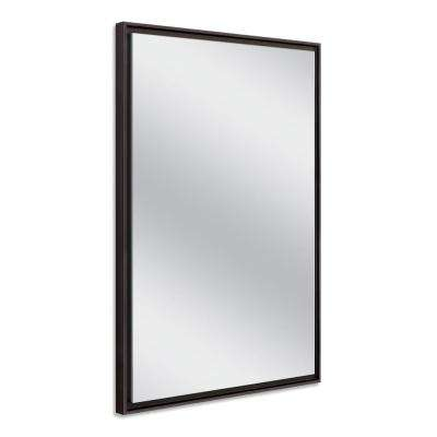 26 in. W x 38 in. H Espresso Studio Float Wall Mirror