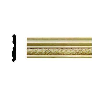 1/2 in x 3-3/4 in x 96 in. Hardwood White Unfinished Loose Weave Crown Moulding