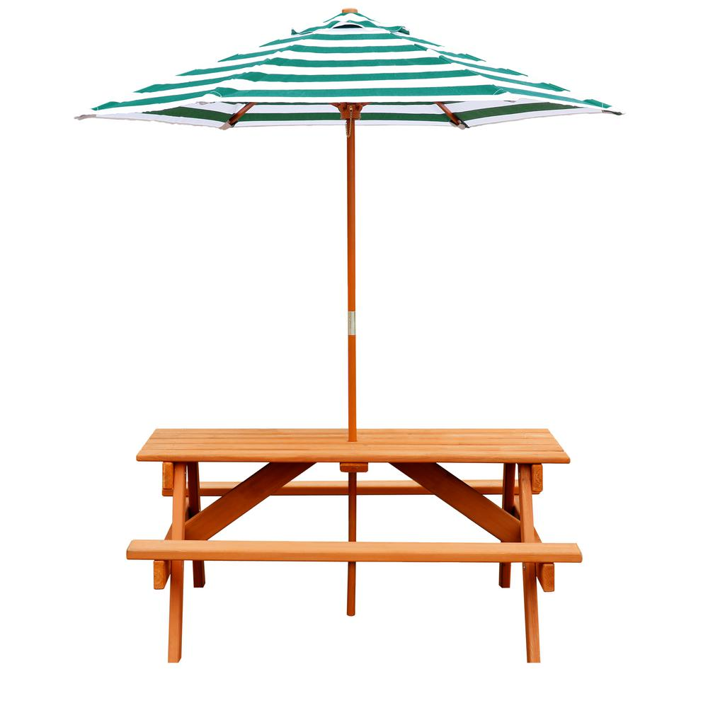 Gorilla Playsets Children S Picnic Table With Umbrella 02 3003 The