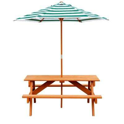 Children's Picnic Table with Umbrella