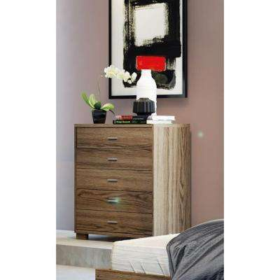 Astor 5-Drawer Chocolate Chest