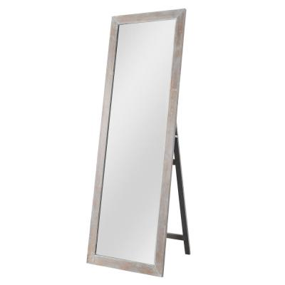 64 in. x 21 in. Rustic Rectangle Wood Framed Standing Mirror Floor Full Length Mirror