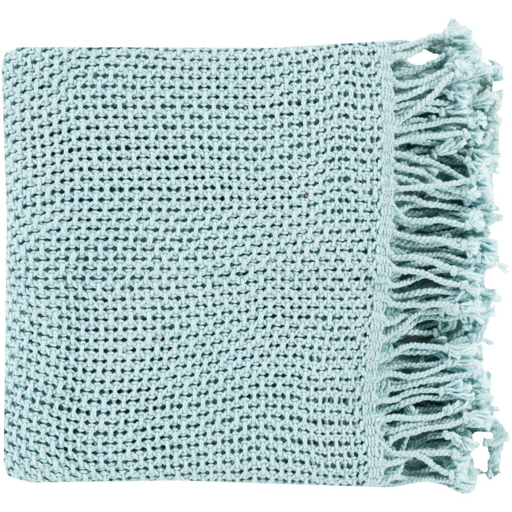 Faxan Pale Blue Cotton Throw