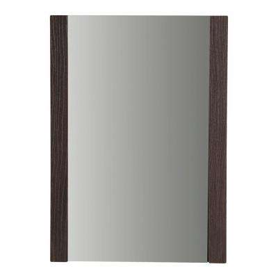 Larissa 20 in. W x 28 in. H Framed Wall Mirror in Elm Ember