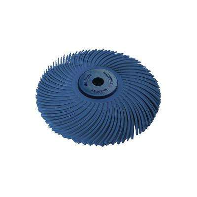 Sunburst 3 in. 400-Grit 3-Ply Radial Discs 1/4 in. Arbor Fine Thermoplastic Cleaning and Polishing Tool