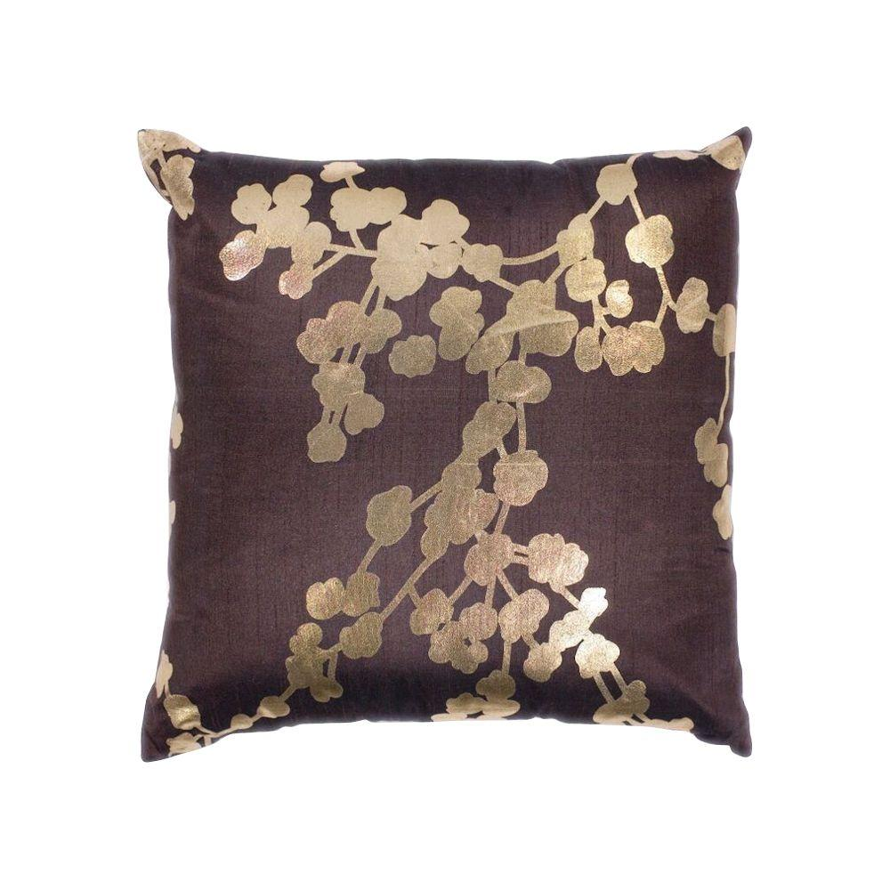 Throw Pillows And Rugs : Kas Rugs Barcelona Chocolate Decorative Pillow-PILL29618SQ - The Home Depot