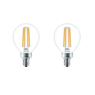 40-Watt Equivalent G16.5 LED Light Bulb Soft White Globe (2-Pack)