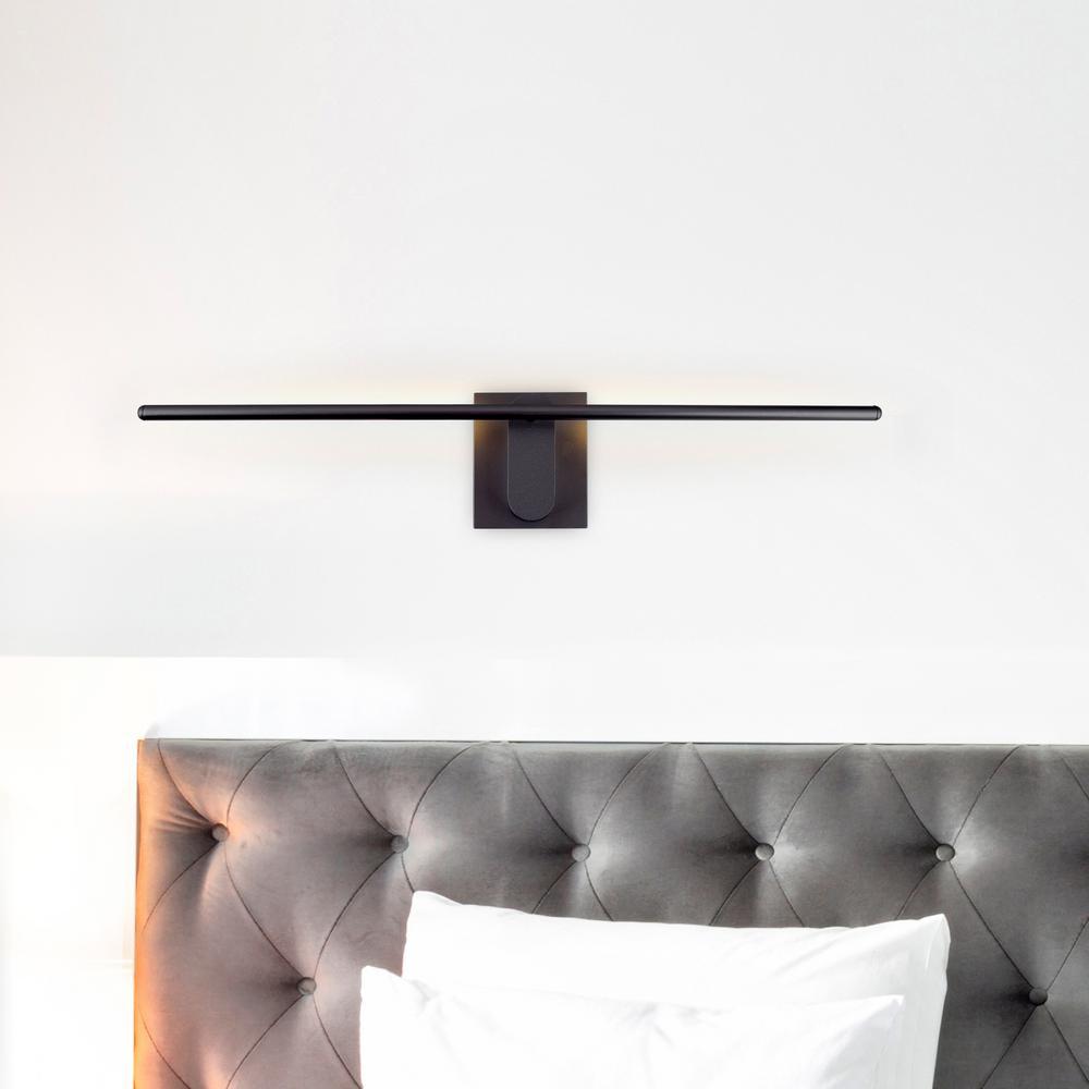 Wezen 11-Watt Black Integrated LED Sconce