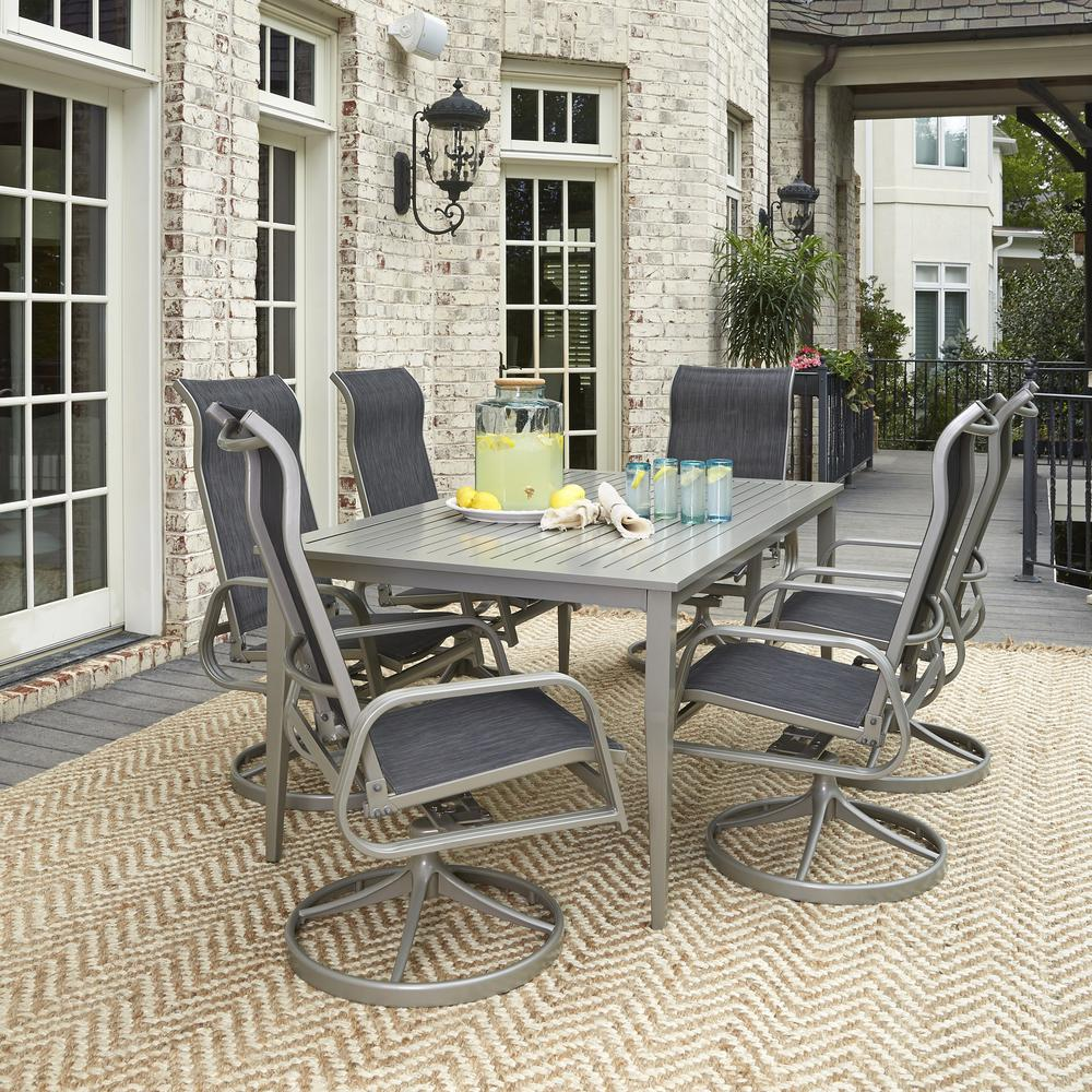 Cast Aluminum Home Styles Rust Resistant Patio Dining Furniture Patio Furniture The Home Depot