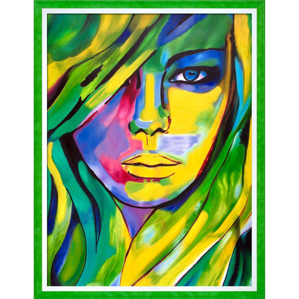 ArtistBe Urban Camouflage Reproduction w/ Jubilee Green with Studio White Custom Frameby Helena Wierzbicki Canvas Print, Multi-color was $1472.01 now $715.73 (51.0% off)