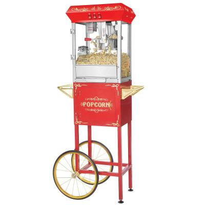 Foundation 8 oz. Red Hot Oil Popcorn Machine with Cart