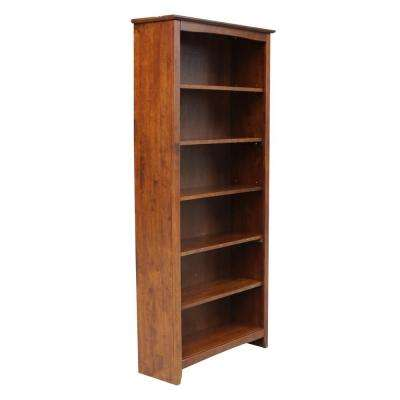 Brooklyn Espresso 72 in. H Bookcase