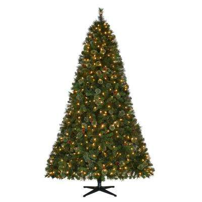 pre lit led alexander pine artificial christmas tree with 550 warm white - Decorated Artificial Christmas Trees