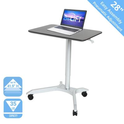 AIRLIFT Espresso XL 28 in Sit-Stand Mobile Desk With Adjustable Height Range 27.1 in to 41.9 in