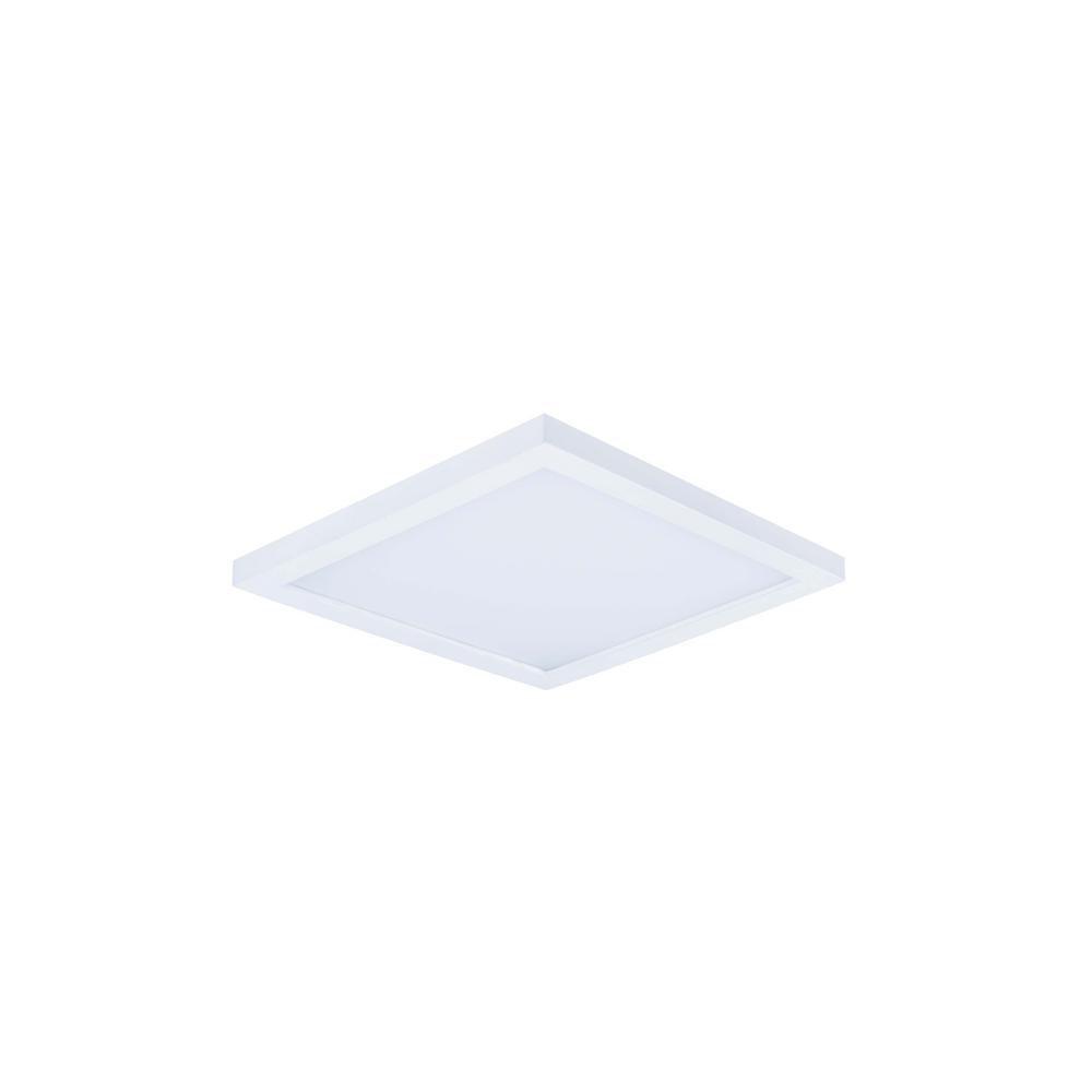 Maxim Lighting Wafer 6.25 in. White Integrated LED Flushmount Light