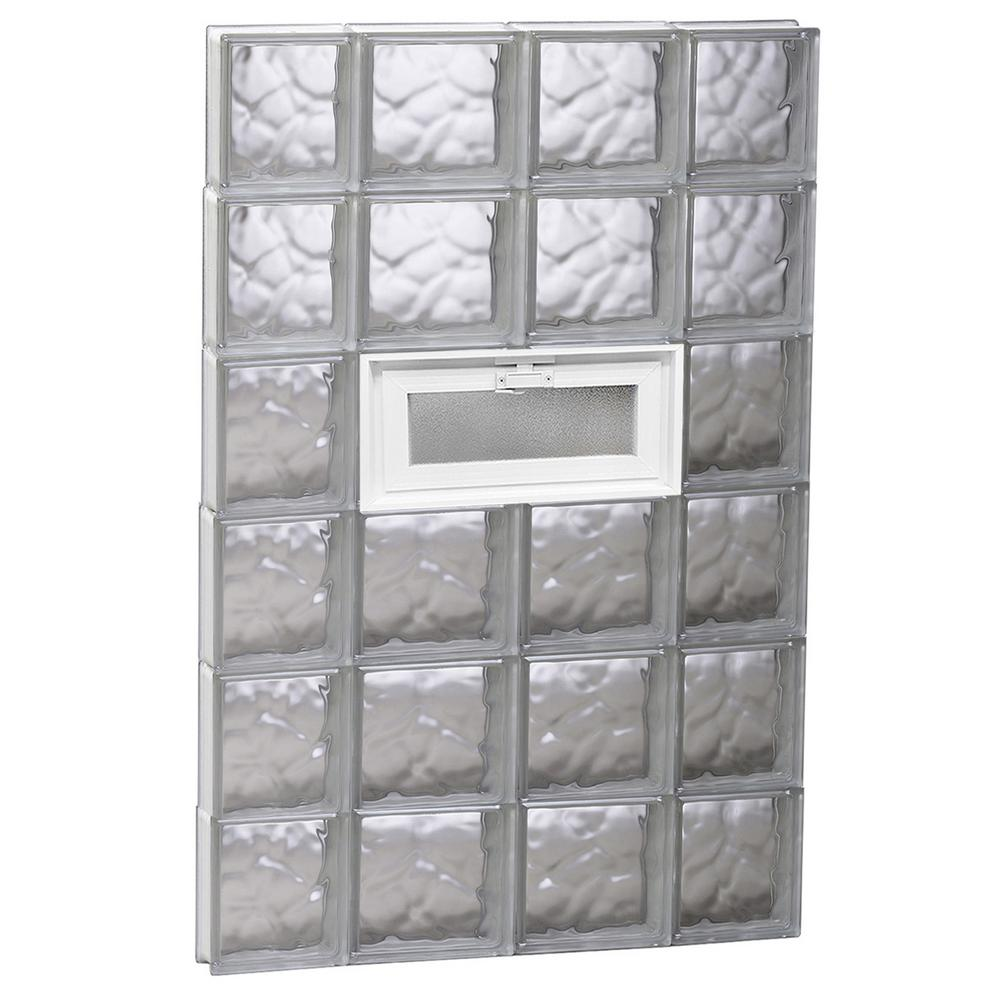 glass block window vent replacement 15.875 27 in 465 3125 frameless wave pattern glas glass block window vent replacement home garden compare prices