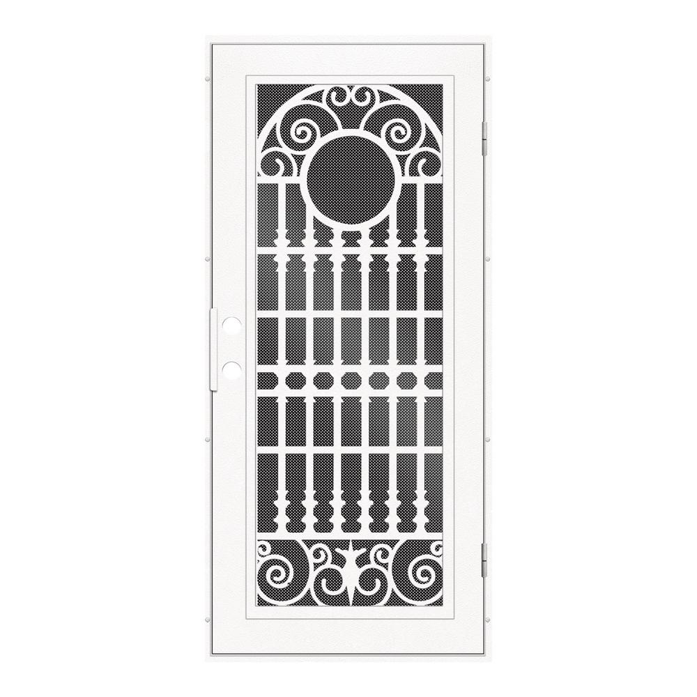 Unique Home Designs 36 in. x 80 in. Classic French White Left-Hand ...