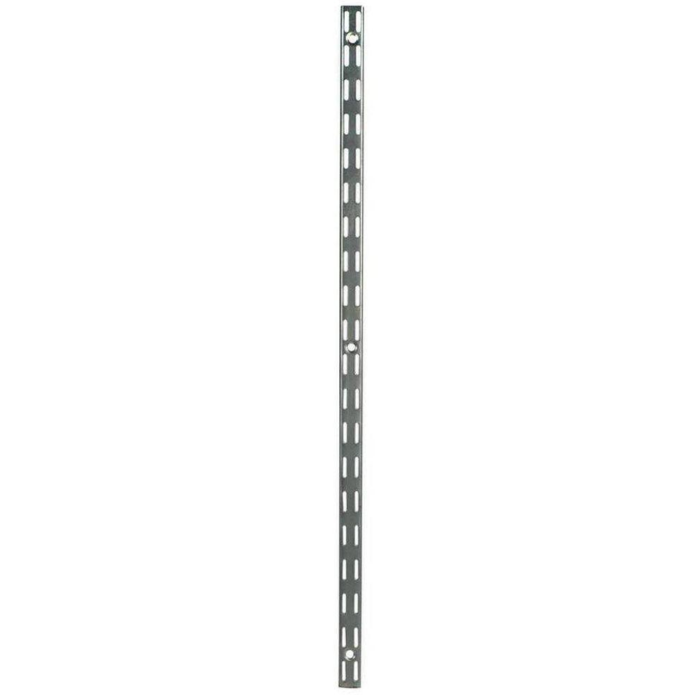 Rubbermaid 47.5 in. Satin Nickel Twin Track Upright for Wood or Wire ...