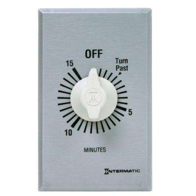 20 Amp 15-Minute Spring Wound In-Wall Timer - Silver