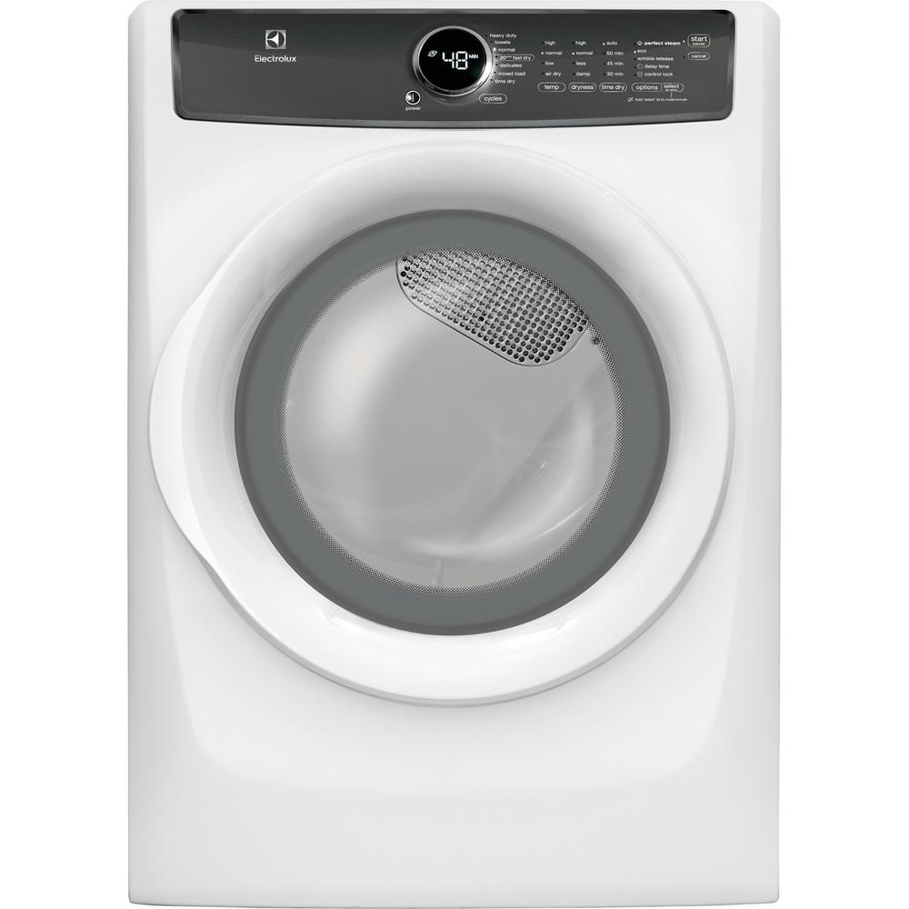 Electrolux 8.0 cu. ft. Front Load Gas Dryer with Perfect Steam in White