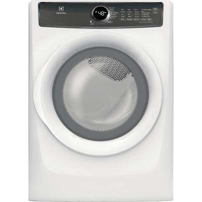 8.0 cu. ft. Front Load Gas Dryer with Perfect Steam in White