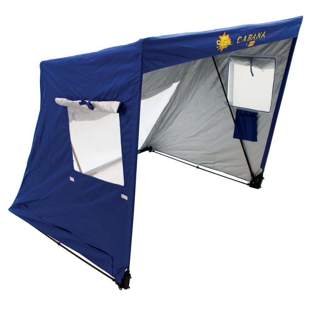 Sol Cabana 5 ft. W x 4-1/4 ft. H x 5 ft. D Beach Sun Shelter