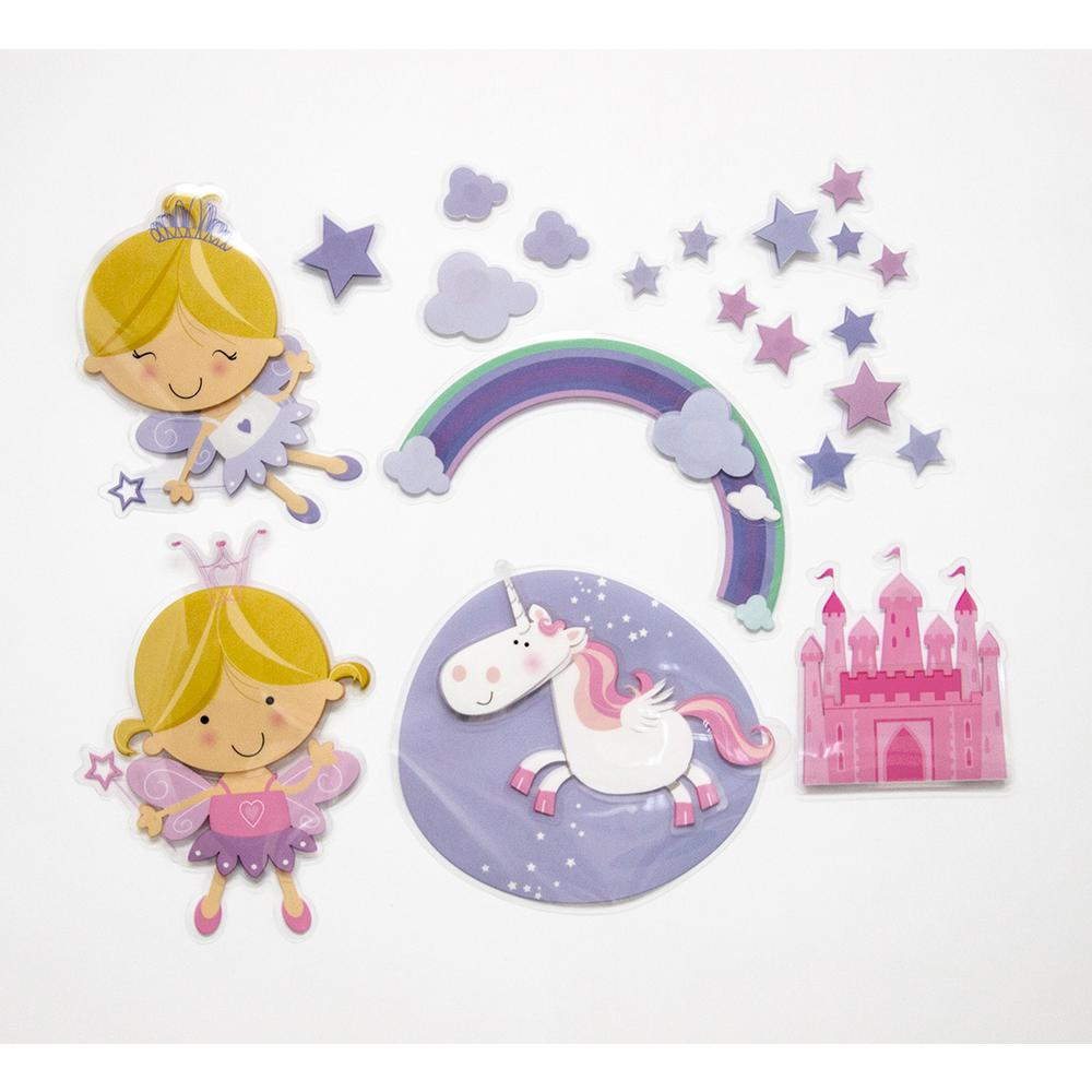 11.8 in. x 11.8 in. Happy Fairies 3D Wall Decal