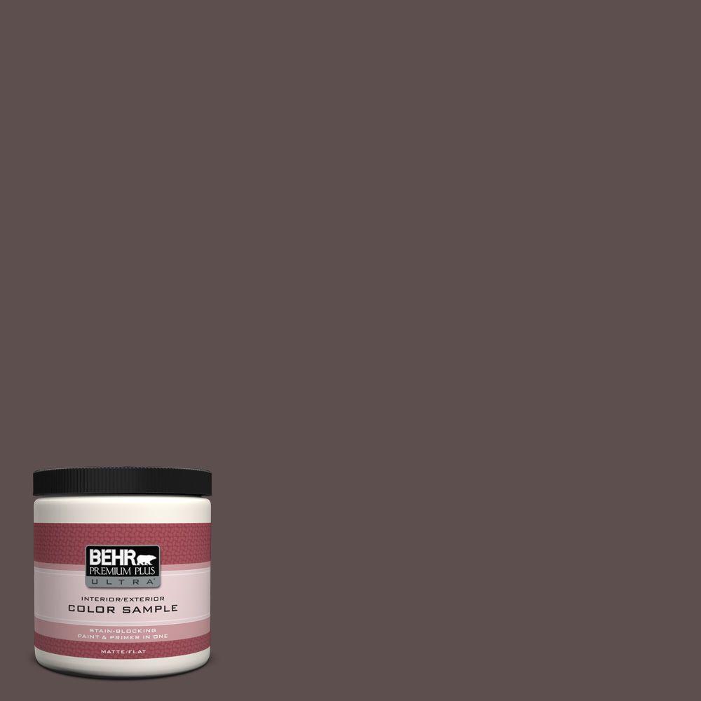 BEHR Premium Plus Ultra 8 oz. Home Decorators Collection Oak Creek Interior/Exterior Paint Sample