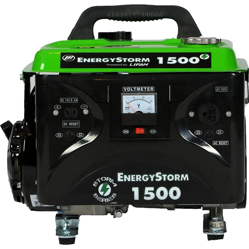 Energy Storm 1,500/1,200-Watt Gasoline Powered Portable Generator