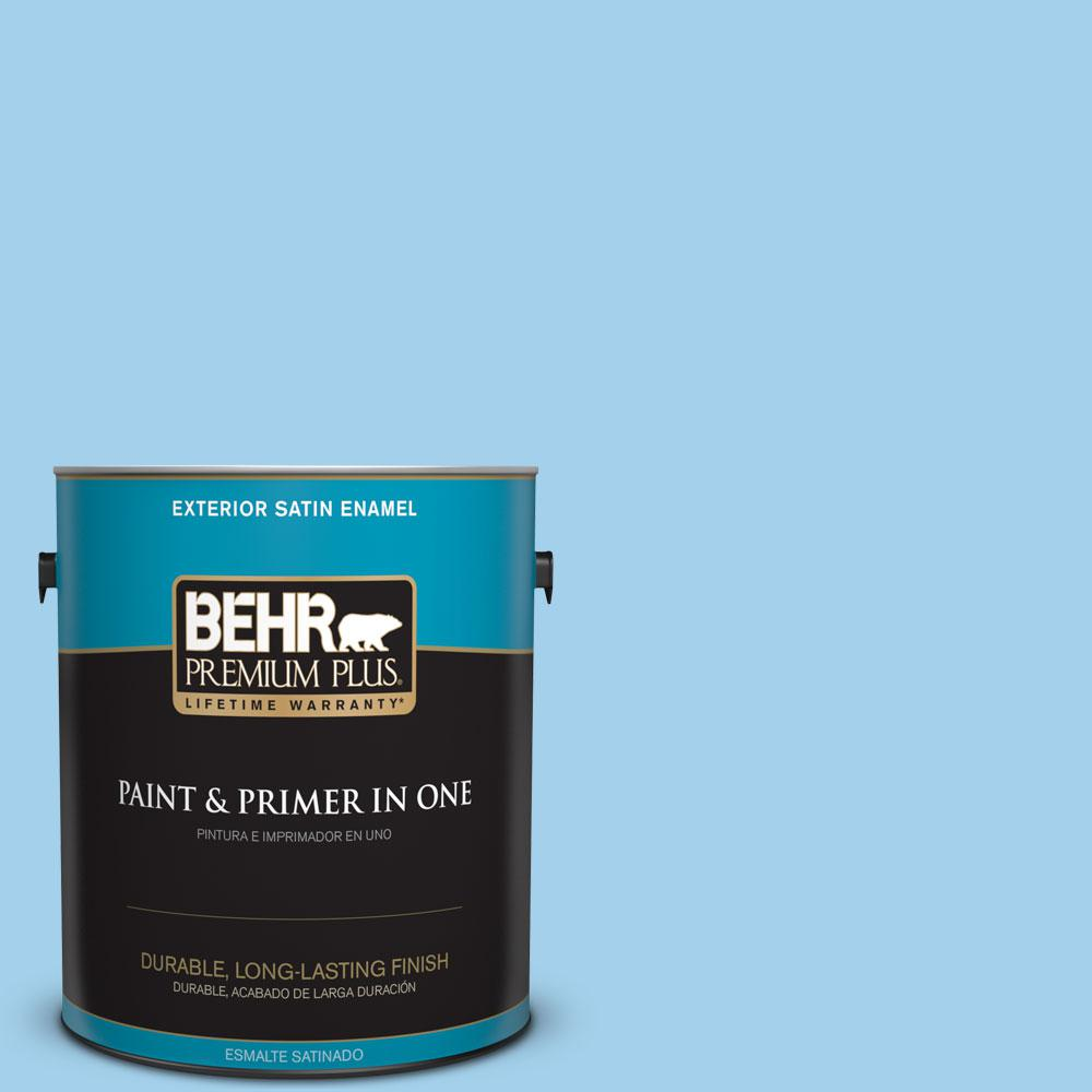 1-gal. #550A-3 Little Pond Satin Enamel Exterior Paint