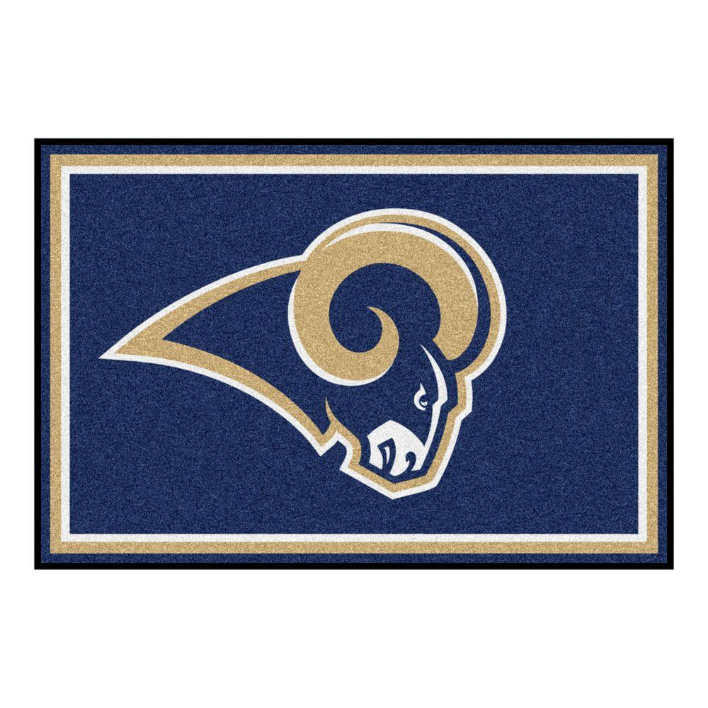 Los Angeles Rams 5 ft. x 8 ft. Area Rug