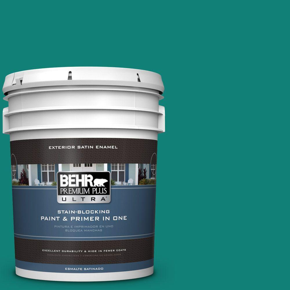 BEHR Premium Plus Ultra Home Decorators Collection 5-gal. #hdc-WR14-9 Green Garlands Satin Enamel Exterior Paint