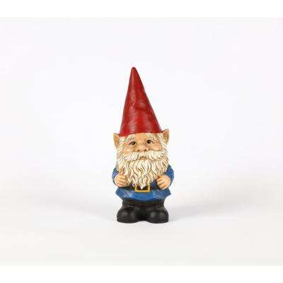 Gnome with Red Hat Looking Up