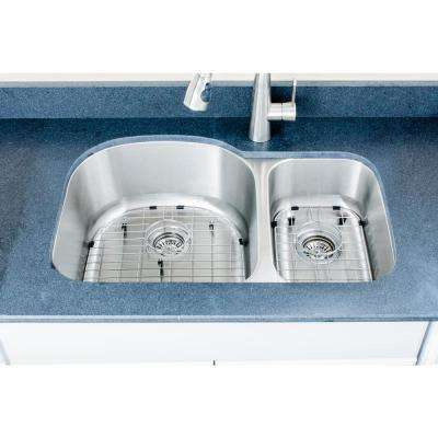 The Craftsmen Series Undermount 31 in. Stainless Steel 70/30 Double Bowl Kitchen Sink Package