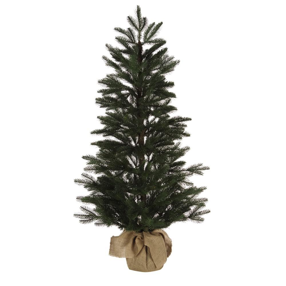 4 ft. Feel Real Norwegian Artificial Christmas Tree with Burlap