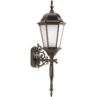 Clearance outdoor lighting lighting the home depot welbourne collection wall mount outdoor antique bronze wall lantern aloadofball Choice Image