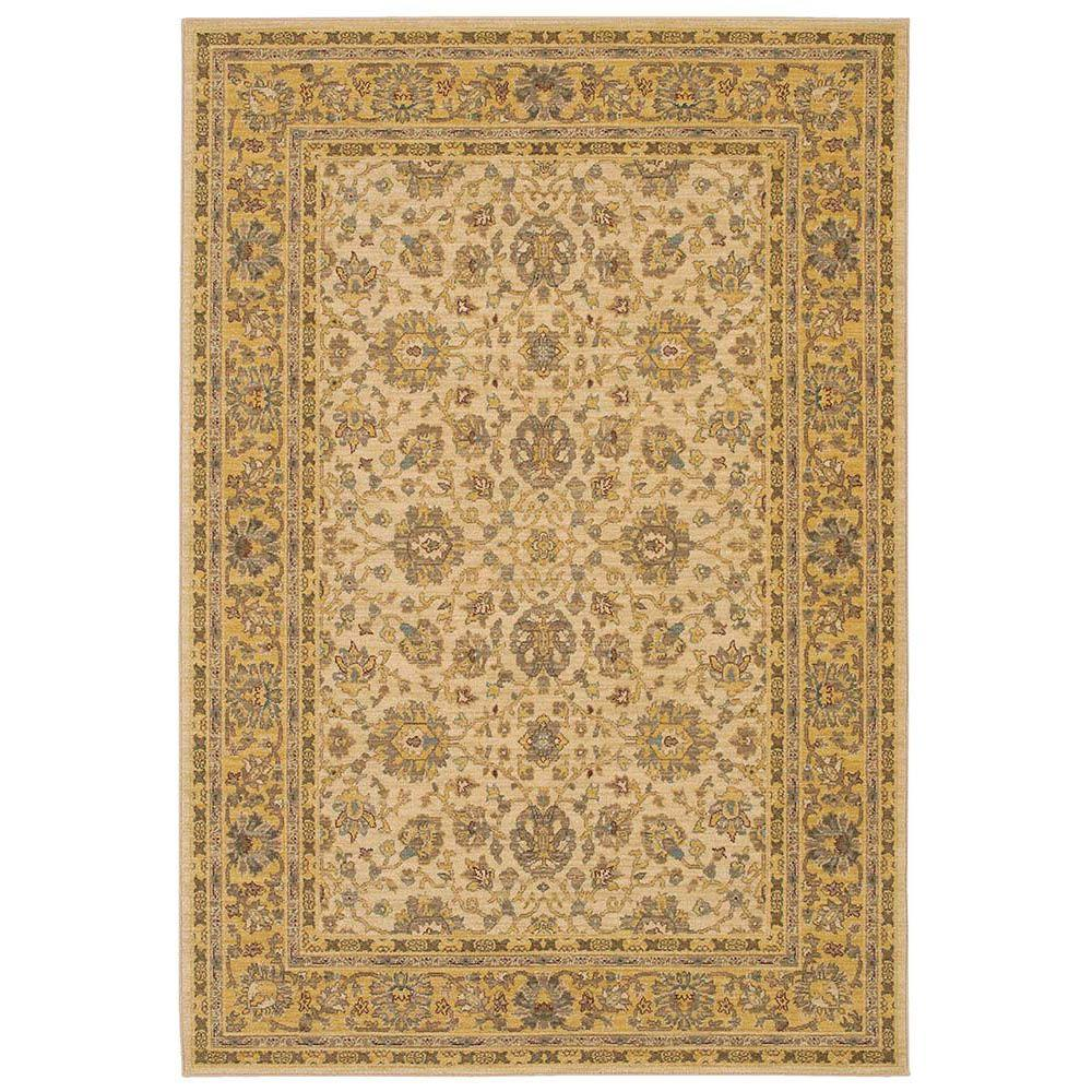 Karastan Capri Maize 8 ft. 6 in. x 11 ft. 6 in. Area Rug
