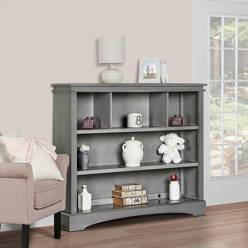 Adora And Catalina Storm Grey Bookcase